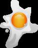 rozplesknuté vejce